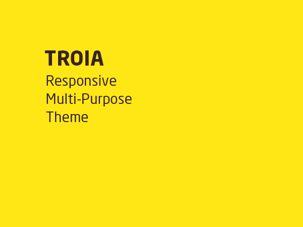 Troia — Responsive One/Multi Page Theme